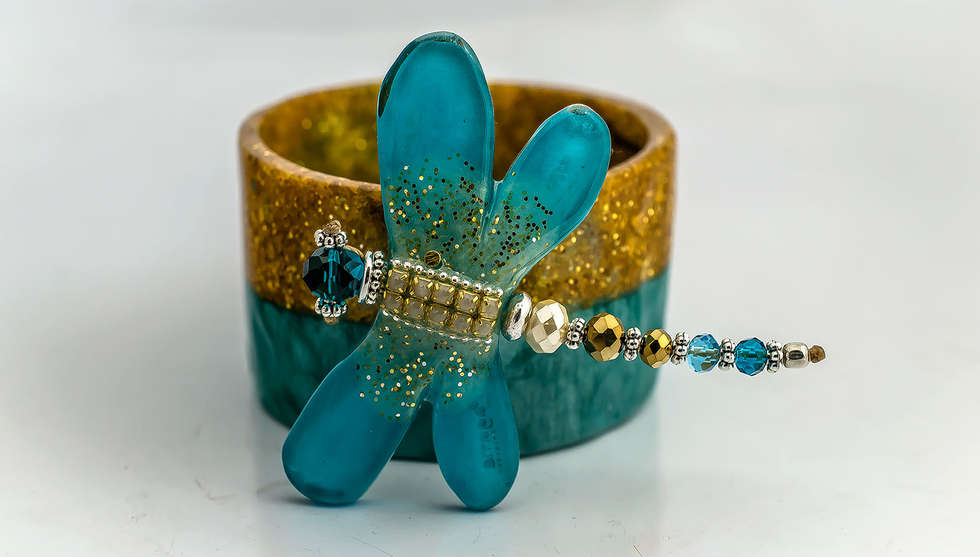 Brooch and Bangle Resin Set by PAGANE uniques