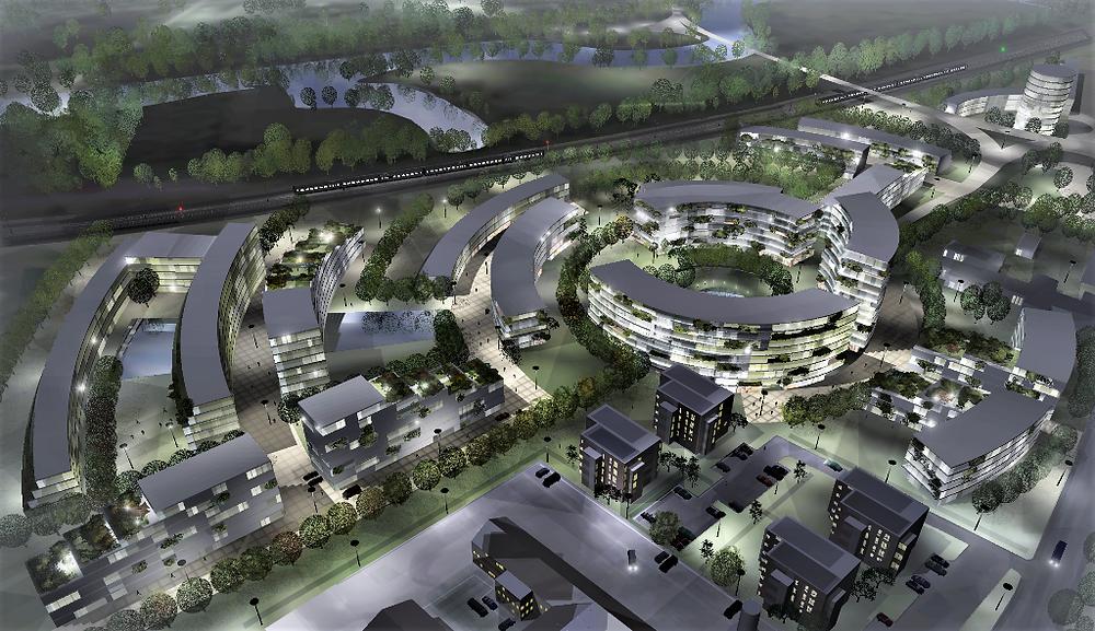 AFR ThinkingUrban transforms an old railway yard into a green revitalized