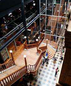 Interior view of the new cake shop and restaurant.