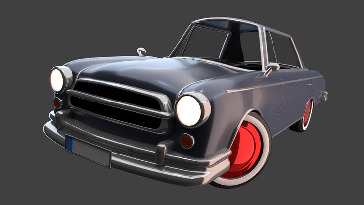 Vintage Car based on the Borgward P100, Hudson Hornet and the Mercedes W111