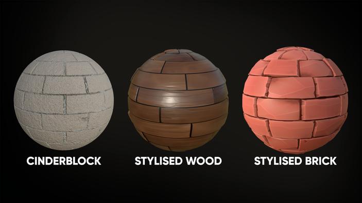 Materials created in Substance Designer