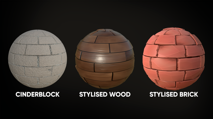 Materials created in Substance Designer