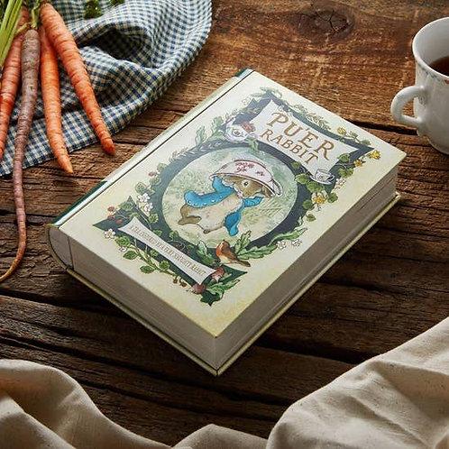 Pu'er Rabbit- Book Shaped Tea Tin