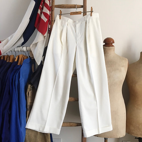 Vintage 1930s/40s Style 'Heyday!' Wide- Legged Trousers W32""
