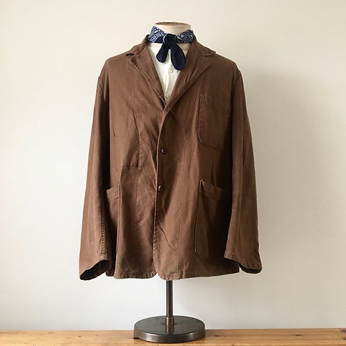True Vintage 1930s 'Le Bon Picard' French Workwear Jacket XL