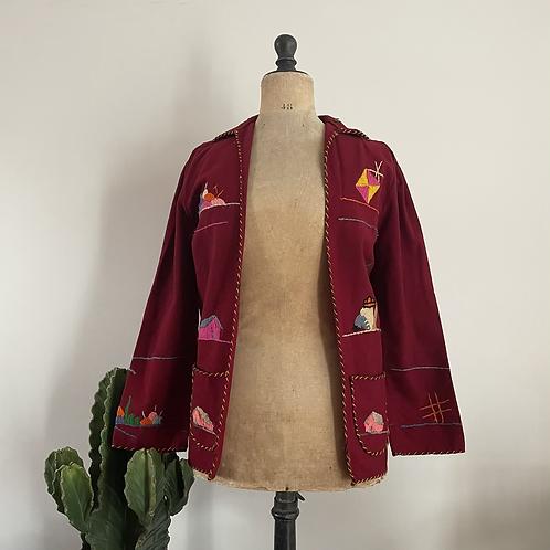 True Vintage 1950s Mexican Tourist Jacket XS/S