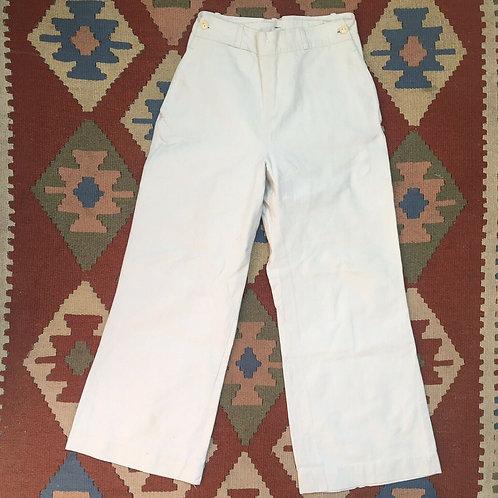 True Vintage 1940s/50s Sailor Pants XS W26'