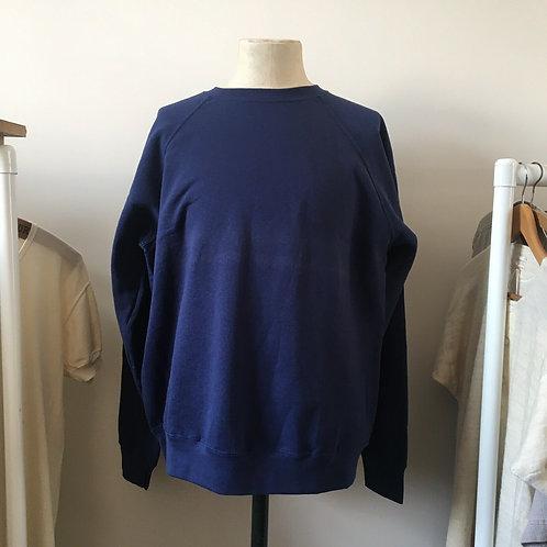 Vintage Style French Blue Sweatshirt XL