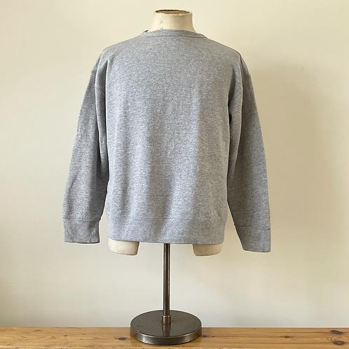 Vintage Fruit of the Loom Easy to Wear Grey Marl Blank Sweatshirt M