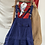 Thumbnail: True Vintage 1950s/60s Bleu de Travail Workwear Dungarees M/ M-L