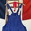 Thumbnail: Vintage European Workwear Dungarees M/M- L
