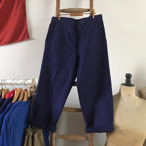 "True Vintage 1960s 'Labor' French Deadstock Workwear Trousers W33"" 34"""
