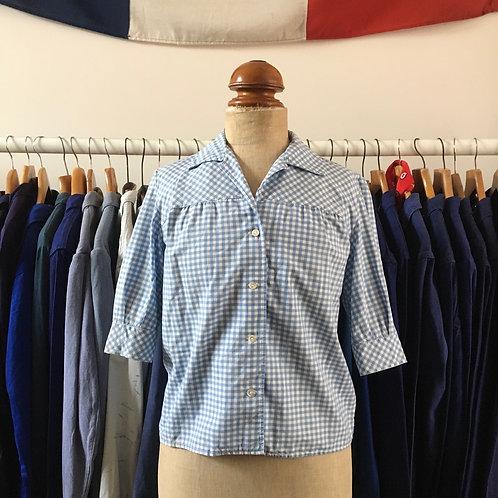 Original 1950s/60s Sportaville Gingham Cotton Shirt