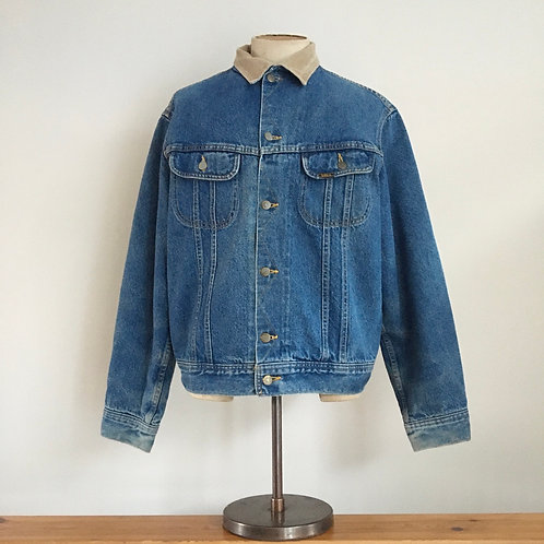 Vintage Lee Storm Rider Denim Blanket Lined Trucker Jacket XL