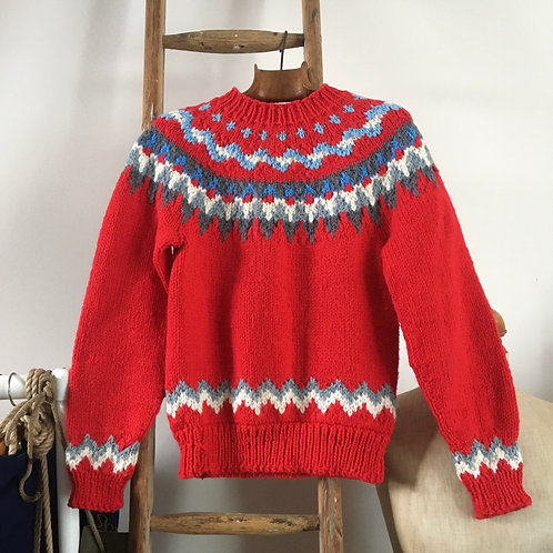 True Vintage Hand Knitted Nordic Wool Sweater XS/S