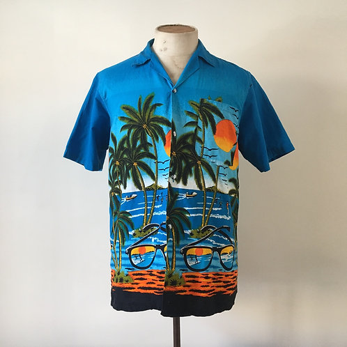 True Vintage 1980s Hawaiian Shirt S M