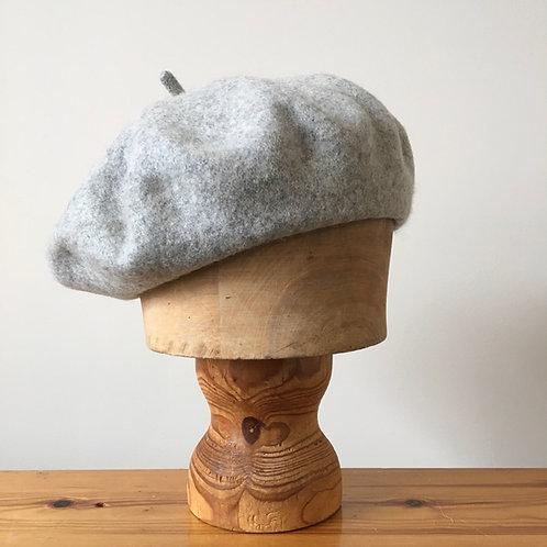 Woolmark 100% Wool Beret Hat / Pebble