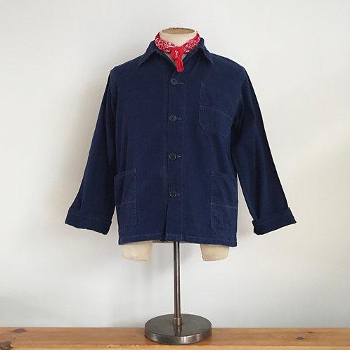 Vintage European Deep Cotton Denim Workwear Jacket S
