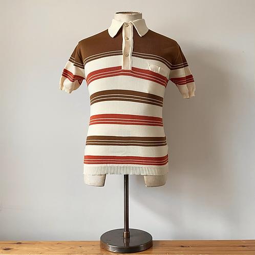 True Vintage 1960s Striped Polo Top S