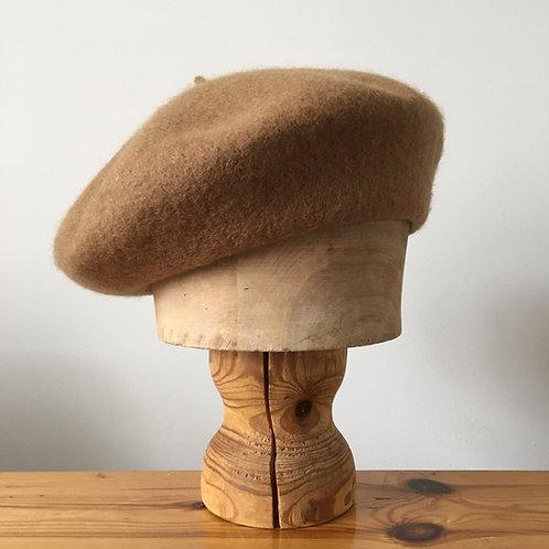 Woolmark 100% Wool Beret Hat / Camel