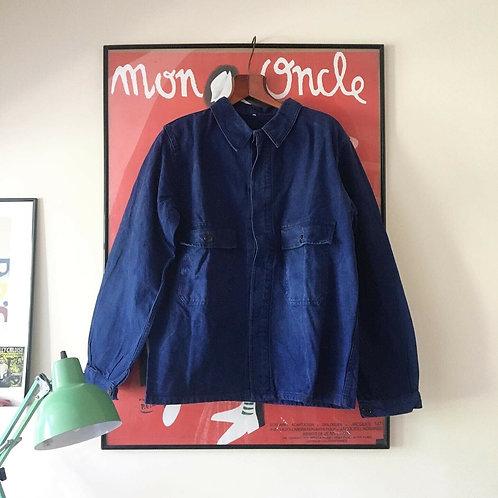 True Vintage 1950s/60s French Workwear Jacket Shirt L