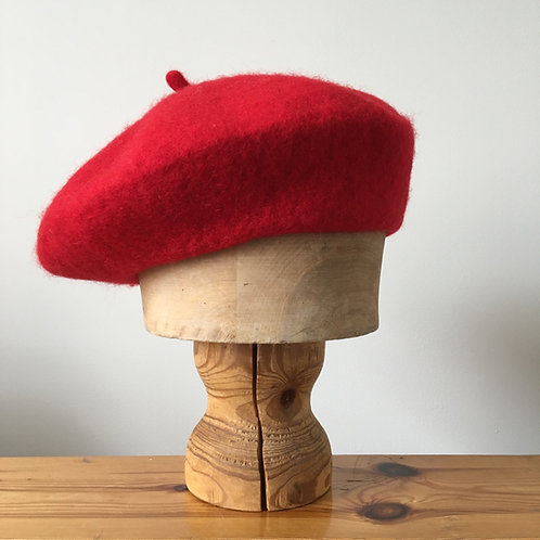 Woolmark 100% Wool Beret Hat/ Lipstick Red