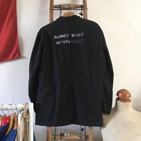 Vintage 'Surrey Speed Motorcycles' Black Workwear Jacket L