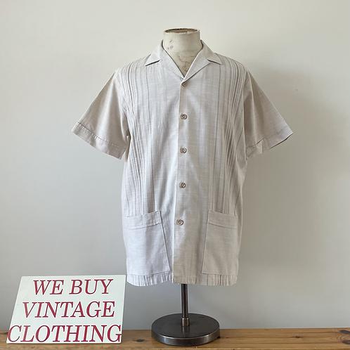 "True Vintage Guayabera Style St. Michael Shirt M- L 42"""