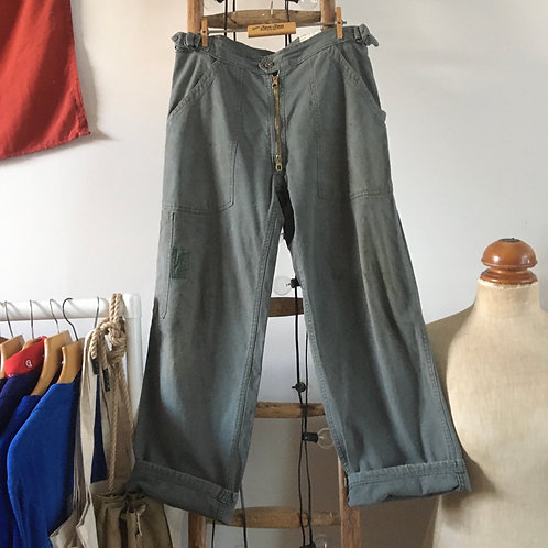 """True Vintage 1950s French Military Trousers W32"""""""