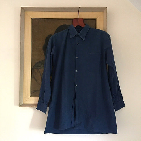 True Vintage French Faded Cotton Workwear Shirt M
