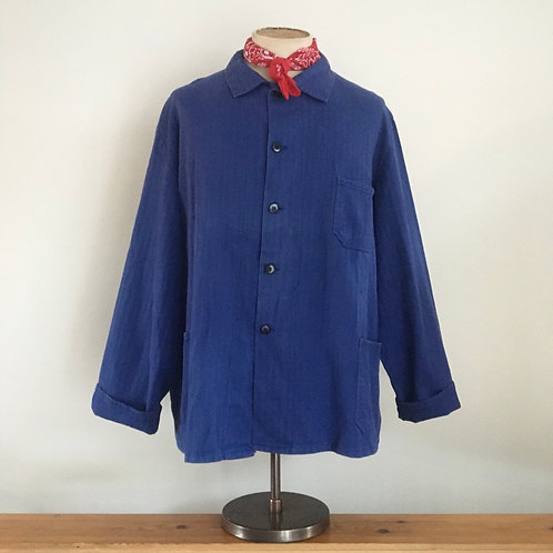 Vintage European Herringbone Cotton Workwear Jacket XL/ XXL