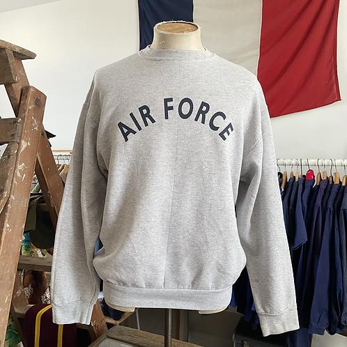 True Vintage USA Air Force Grey Marl Sweatshirt XL