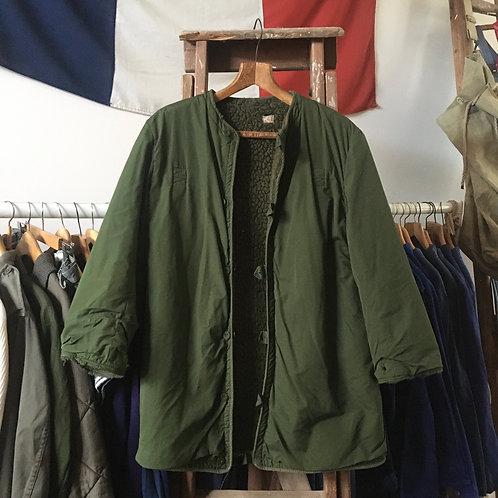 Vintage 1970s Swedish Shearling Military Liner Jacket M- L