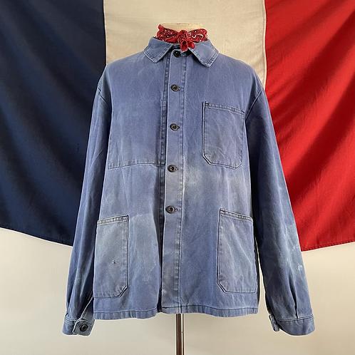 True Vintage  French Faded Workwear Jacket XL XXL