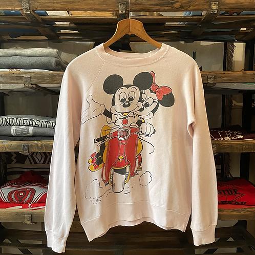 True Vintage 1980s Mickey & Minne Mouse Grey Marl Sweatshirt M