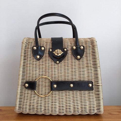 True Vintage 1950s Wicker Bag
