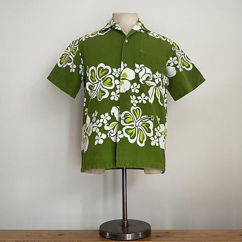 True Vintage 1950s/60s Hawaiian Barkcloth Cotton Shirt M- L