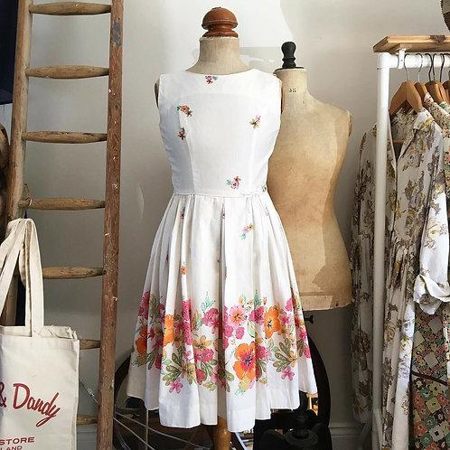 True Vintage 1950s Sun Fashions Hawaiian Dress XS UK6