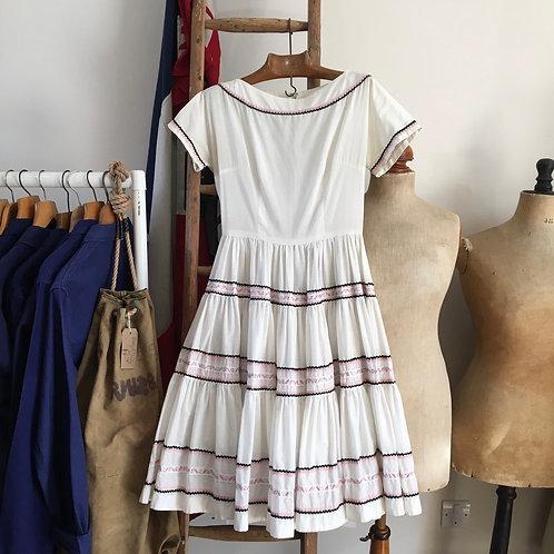 "True Vintage 1950s/60s Patio Dress UK8- 10 W27"""