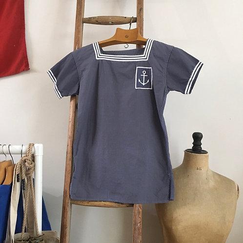Vintage 1950s French Marinière Sailor Naval Shirt Top XS