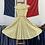 "Thumbnail: True Vintage 1950s The Linzi Line Cotton Print Dress UK8 10 W28"""