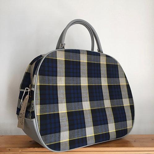 True Vintage 1960s Tartan Check Holdall Bag