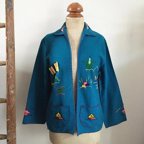 True Vintage 1940s/50s Mexican Tourist Jacket M