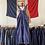 Thumbnail: True Vintage 1950s Bleu de Verdun Workwear Dungarees M/ M- L