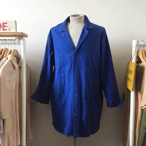 Vintage French Duster Worker Jacket L XL