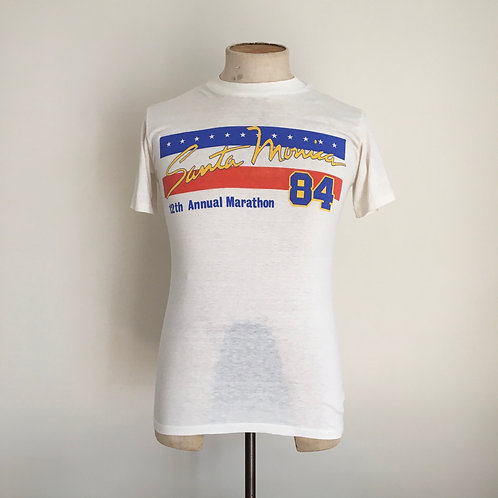 True Vintage 1980s USA Santa Monica Tee- Shirt S