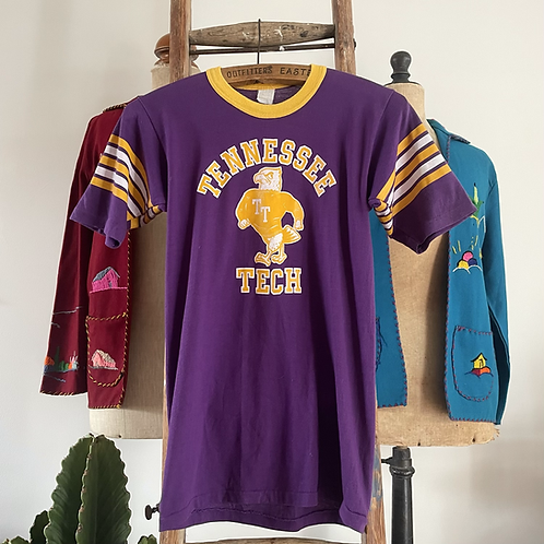 True Vintage USA 1970s Tennessee Tech Sports Top S