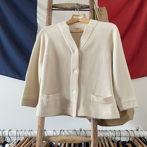 True Vintage 1950s/60s Italian Wool Cardigan M