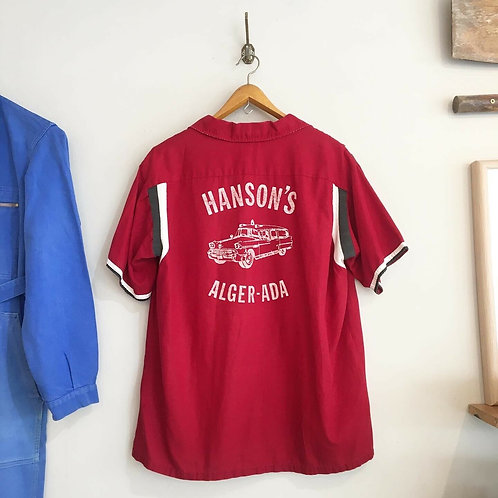 True Vintage Hilton Hanson's Bowling Shirt M