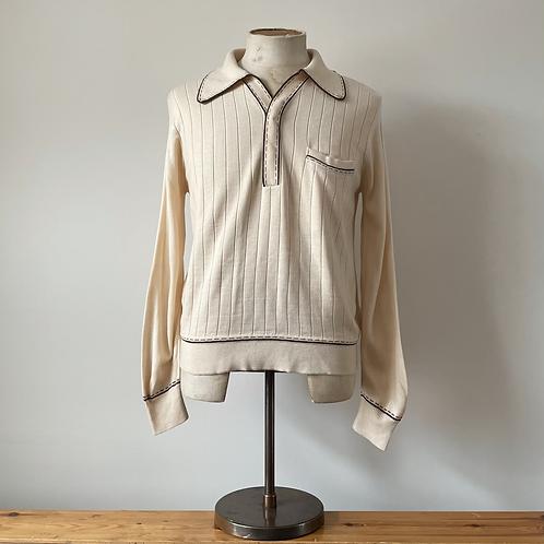 True Vintage 1960s Knit Polo Top M- L